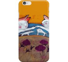 couple in love with their pets iPhone Case/Skin