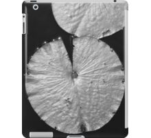 Lily Pad, Black and White iPad Case/Skin