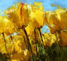 tulips by DARREL NEAVES