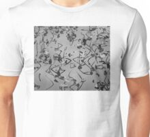 Still Waters with Plant Reflection, Black and White Photo Unisex T-Shirt
