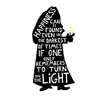 Harry Potter Dumbledore quote Photographic Print
