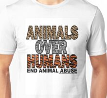 ANIMALS OVER HUMANS Unisex T-Shirt