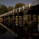 Wodonga Creek Bridge at night by John Vandeven