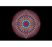 Optical illusion fractal flower Photographic Print
