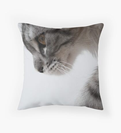Nothing but grace - Maine Coon kitten Throw Pillow