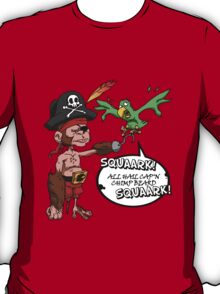 All Hail Cap'n Chimp Beard!  T-Shirt