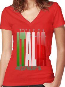 Bella Italia Women's Fitted V-Neck T-Shirt