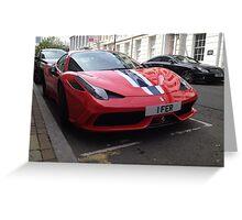 Ferrari 458 Speciale' Greeting Card