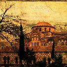 St Luke's Monastery - Delphi, Greece, 1969 by pennyswork