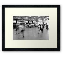 Departures, St Pancras International Station, London Framed Print