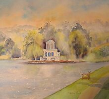 Mist on Temple Island- Henley-on-Thames by Beatrice Cloake