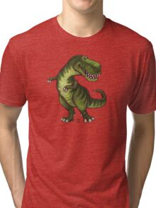 Animal Parade Tyrannosaurus Silhouette Tri-blend T-Shirt