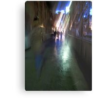 After the rain-Paris sidewalk, early evening Metal Print