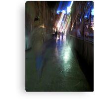 After the rain-Paris sidewalk, early evening Canvas Print