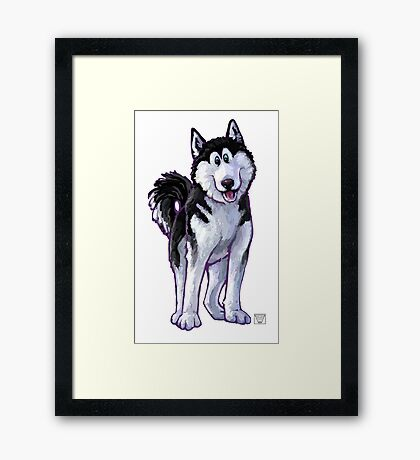 Animal Parade Husky Silhouette Framed Print