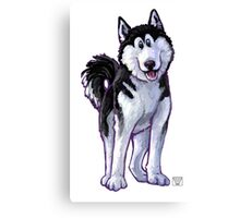 Animal Parade Husky Silhouette Canvas Print