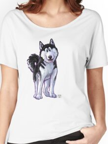 Animal Parade Husky Silhouette Women's Relaxed Fit T-Shirt