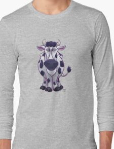 Animal Parade Cow Silhouette Long Sleeve T-Shirt