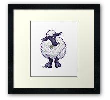 Animal Parade Sheep Silhouette Framed Print
