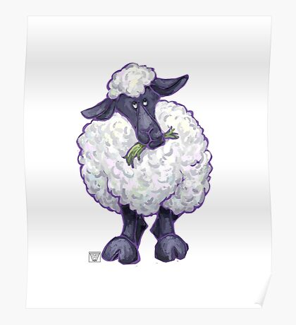 Animal Parade Sheep Silhouette Poster