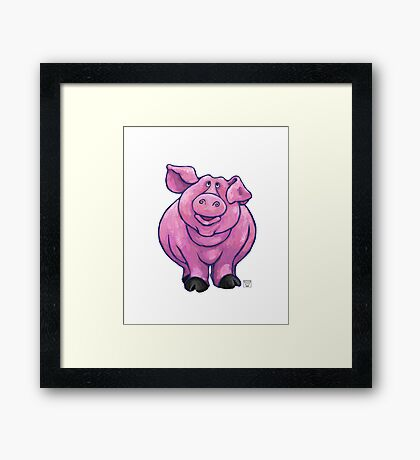 Animal Parade Pig Silhouette Framed Print