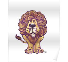 Animal Parade Lion Silhouette Poster