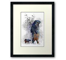 Mother Bear and Cub Framed Print