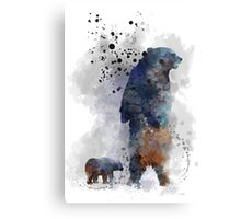 Mother Bear and Cub Canvas Print