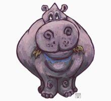 Animal Parade Hippopotamus Silhouette One Piece - Short Sleeve
