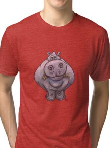 Animal Parade Hippopotamus Silhouette Tri-blend T-Shirt