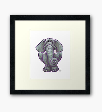 Animal Parade Elephant Silhouette Framed Print