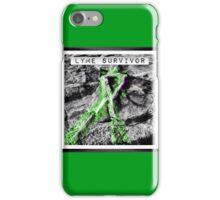 Lyme Disease Survivor Ribbon  iPhone Case/Skin