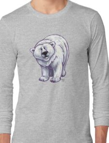 Animal Parade Polar Bear Silhouette Long Sleeve T-Shirt