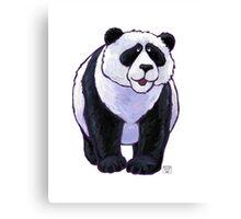 Animal Parade Panda Bear Silhouette Canvas Print