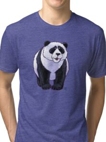 Animal Parade Panda Bear Silhouette Tri-blend T-Shirt