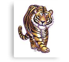 Animal Parade Tiger Silhouette Canvas Print