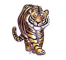 Animal Parade Tiger Silhouette Photographic Print