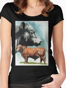 Angus Cattle Women's Fitted Scoop T-Shirt