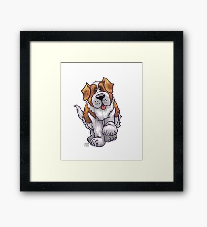 Animal Parade St. Bernard Silhouette Framed Print