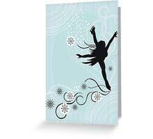 ice skater  Greeting Card