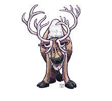 Animal Parade Reindeer Silhouette Photographic Print
