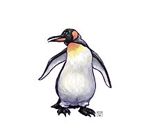 Animal Parade Penguin Silhouette Photographic Print