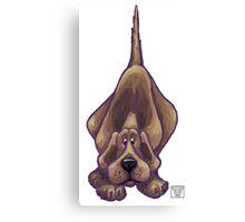 Animal Parade Hound Dog Silhouette Canvas Print