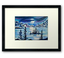 RIBBON OF MOONLIGHT AT SPIRIT ISLAND LAKE Framed Print