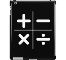 MATH plus, minus, multiply, divide iPad Case/Skin