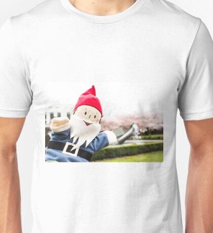 Sakura Fountain Gnome Unisex T-Shirt
