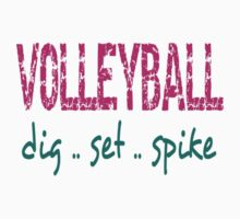 Volleyball Dig Set Spike Baby Tee