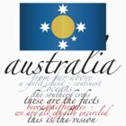 Australian Flag Poem by Kim  Lynch
