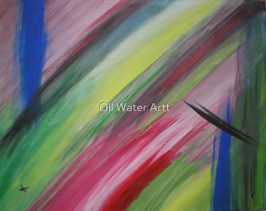 stripes by Oil Water Artt