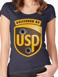 Delivered By USP (Official) Women's Fitted Scoop T-Shirt